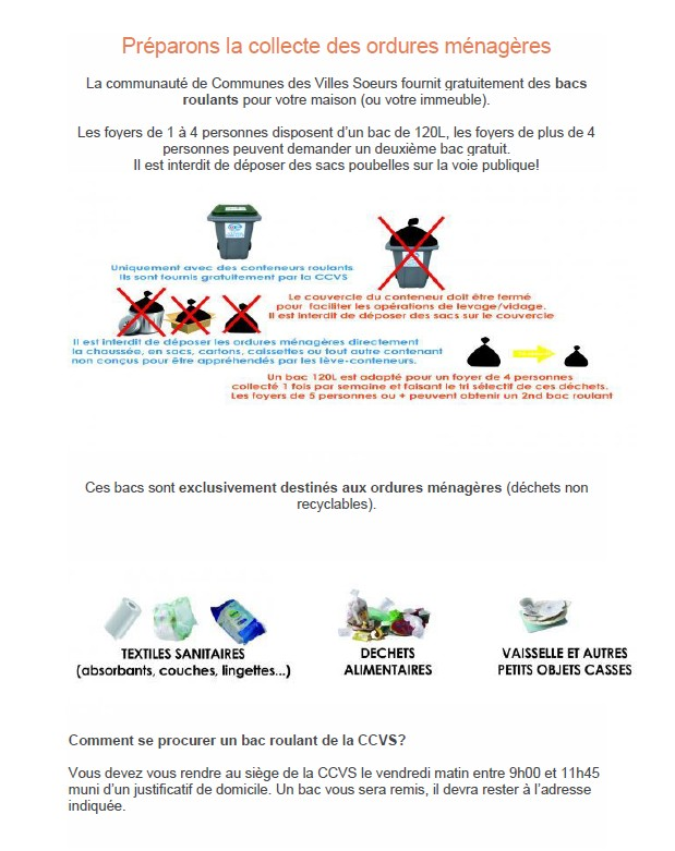 preparation collecte ordures menageres